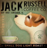 Jack Russel Coffee Co. Reproduction d'art par Stephen Fowler