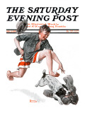 &quot;Runaway Pants&quot; Saturday Evening Post Cover  August 9 1919