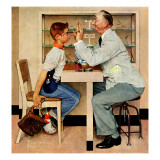 """At the Optometrist"" or ""Eye Doctor"", May 19,1956 Giclée par Norman Rockwell"