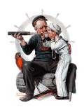 """""""Setting One's Sights"""" or """"Ship Ahoy"""", August 19,1922 Giclée par Norman Rockwell"""