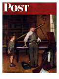 &quot;Piano Tuner&quot; Saturday Evening Post Cover  January 11 1947