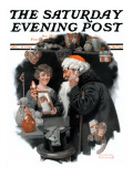 &quot;Playing Santa&quot; Saturday Evening Post Cover  December 9 1916