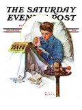 """""""Missing the Dance"""" Saturday Evening Post Cover, January 23,1937 Giclée par Norman Rockwell"""