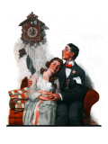 """Courting under the Clock at Midnight""  March 22 1919"