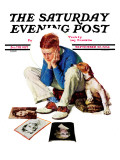 """Boy Gazing at Cover Girls"" Saturday Evening Post Cover  September 22 1934"