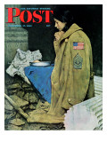 &quot;Refugee Thanksgiving&quot; Saturday Evening Post Cover  November 27 1943