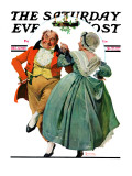 """Christmas Dance"" or ""Merrie Christmas"" Saturday Evening Post Cover  December 8 1928"