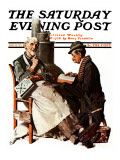 """Crossword Puzzle"" Saturday Evening Post Cover  January 31 1925"