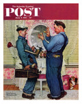 &quot;Plumbers&quot; Saturday Evening Post Cover  June 2 1951