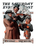 """Christmas Trio"" or ""Sing Merrille"" Saturday Evening Post Cover  December 8 1923"