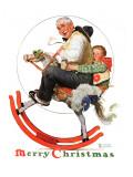 """""""Gramps on Rocking Horse"""", December 16,1933 Giclée par Norman Rockwell"""