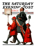 """Army March"" or ""Grand Reception"" Saturday Evening Post Cover  November 8 1924"