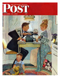 """Dewey v Truman"" Saturday Evening Post Cover  October 30 1948"
