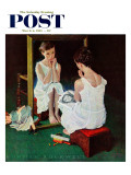 &quot;Girl at the Mirror&quot; Saturday Evening Post Cover  March 6 1954