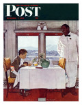 &quot;New York Central Diner&quot; Saturday Evening Post Cover  December 7 1946