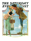 """Milkmaid"" Saturday Evening Post Cover  July 25 1931"