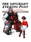 """Grandpa's Little Ballerina"" Saturday Evening Post Cover  February 3 1923"