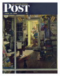 """Shuffleton's Barbershop"" Saturday Evening Post Cover  April 29 1950"