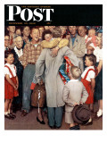 &quot;Christmas Homecoming&quot; Saturday Evening Post Cover  December 25 1948