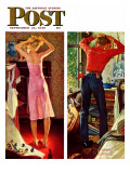 &quot;Before the Date&quot; Saturday Evening Post Cover  September 24 1949