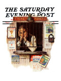 """Ticket Agent"" Saturday Evening Post Cover  April 24 1937"