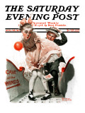 """Cave of the Winds"" Saturday Evening Post Cover  August 28 1920"
