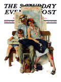 """Home from Vacation"" Saturday Evening Post Cover  September 13 1930"