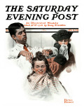 """First Haircut"" Saturday Evening Post Cover  August 10 1918"
