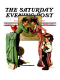 """First Day of School"" or ""Back to School"" Saturday Evening Post Cover  September 14 1935"
