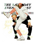 &quot;100th Anniversary of Baseball&quot; Saturday Evening Post Cover  July 8 1939