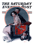 """God Bless You"" or ""Sneezing Boy"" Saturday Evening Post Cover  October 1 1921"