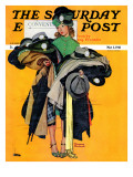 """Hatcheck Girl"" Saturday Evening Post Cover  May 3 1941"