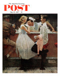 """""""After the Prom"""" Saturday Evening Post Cover, May 25,1957 Giclée par Norman Rockwell"""