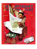 """Willie Gillis on KP"" Saturday Evening Post Cover  April 11 1942"