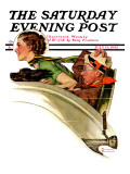 """Exhilaration"" Saturday Evening Post Cover  July 13 1935"
