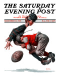 """Fumble"" or ""Tackled"" Saturday Evening Post Cover, November 21,1925 Giclée par Norman Rockwell"