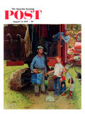 """Construction Crew"" Saturday Evening Post Cover  August 21 1954"