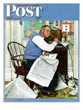 """Armchair General"" Saturday Evening Post Cover  April 29 1944"