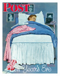 &quot;New Year&#39;s Eve&quot; Saturday Evening Post Cover  January 1 1944