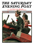 """Excuse My Dust"" Saturday Evening Post Cover  July 31 1920"
