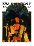"""Dreams"" Saturday Evening Post Cover  February 16 1929"