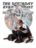 """""""Age of Romance"""" Saturday Evening Post Cover  November 10 1923"""