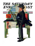 &quot;Jazz It Up&quot; or &quot;Saxophone&quot; Saturday Evening Post Cover  November 2 1929