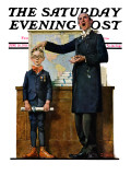 """Schoolmaster"" or ""First in his Class"" Saturday Evening Post Cover  June 26 1926"