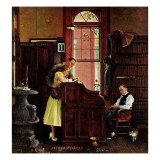 """Marriage License"", June 11,1955 Giclée par Norman Rockwell"