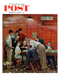 """Jury"" or ""Holdout"" Saturday Evening Post Cover  February 14 1959"