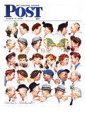 """Chain of Gossip"" Saturday Evening Post Cover, March 6,1948 Giclée par Norman Rockwell"
