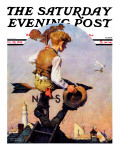&quot;On Top of the World&quot; Saturday Evening Post Cover  October 20 1934