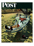 &quot;On Leave&quot; Saturday Evening Post Cover  September 15 1945
