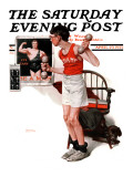 """Champ"" or ""Be a Man"" Saturday Evening Post Cover  April 29 1922"